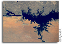 The Aswan High Dam As See from Space