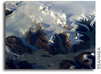Patagonia's Ice Fields As Viewed From Orbit