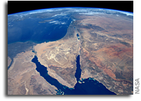 The Middle East As Seen From Orbit