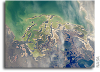 Lake Tengiz, Kazakhstan As Seen From Orbit