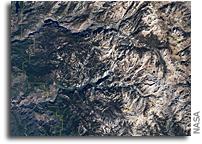 Yosemite National Park Seen From Orbit
