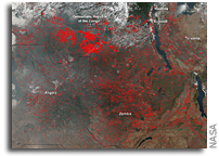 Fires in Central Africa As Seen From Orbit