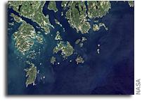 Orbital View of Acadia National Park