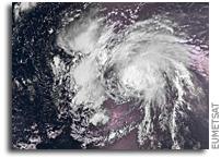 Hurricane Gaston Seen From Orbit