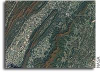 Shenandoah National Park Seen From Orbit