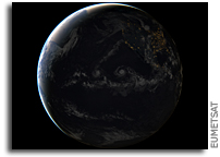Hurricanes Lester and Madeline Seen From Space