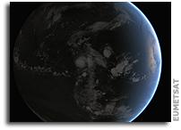 Orbital View As Hurricane Matthew Threatens U.S. East Coast