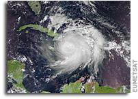 Orbital View of Hurricane Matthew over Haiti, Cuba and Jamaica