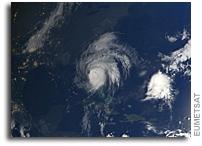 Orbital View As Hurricane Matthew Strikes The U.S.