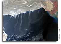 Sentinel-3A Image of Dust Over The Arabian Sea and Sea of Oman