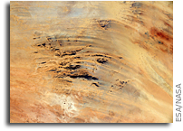 African Desert Art Seen From Orbit
