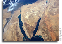 Egypt And The Sinai Desert Seen From Orbit