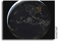 Tropical Storm Estelle Seen From Space
