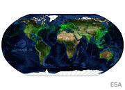 A CubeSat Tracks Worldwide Air Traffic
