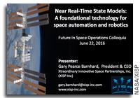 NASA FISO Presentation: Near Real-Time State Models - a Foundational Technology for Space Automation and Robotics