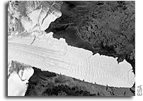 Antarctica's Nansen Ice Shelf Releases Two Huge Icebergs