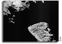 Cliffs on Comet 67P/Churyumov-Gerasimenko