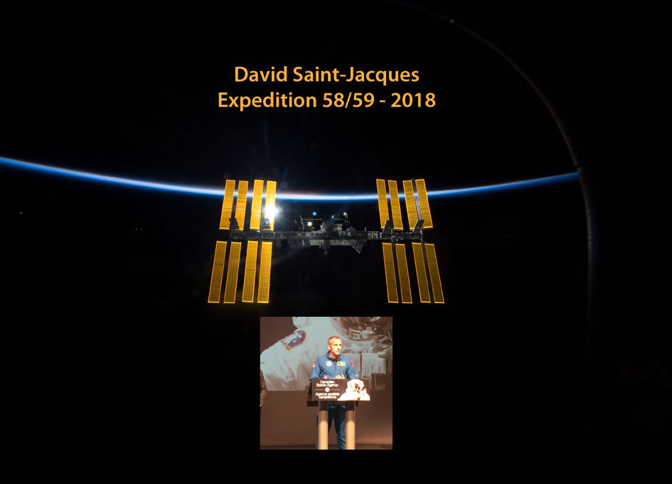 Astronaut David Saint-Jacques Heading to the International Space Station in 2018