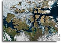 Orbital View: A Nearly Ice-Free Northwest Passage