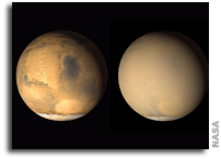 Predicting The Next Global Dust Storm on Mars