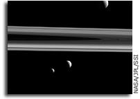 Tethys, Enceladus and Mimas