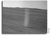 Opportunity Rover Sees a Martian Dust Devil