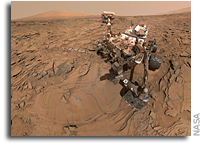 Curiosity Descends Plateau and Turns Toward Mount Sharp