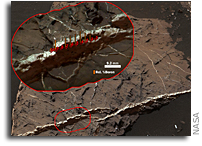 First Detection of Boron on the Surface of Mars