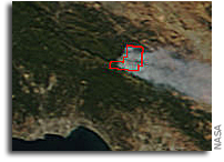 California's Loma Fire Spreads As Seen From Space