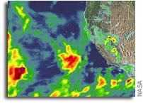 Orbital View of Storms Hitting California
