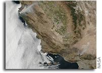 Orbital View Of California Fires
