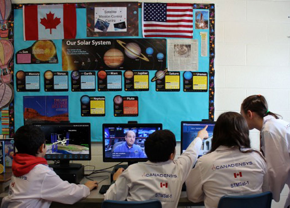 Satellite Centre at Canadian Elementary School Welcomes Visit from Canadian Astronaut