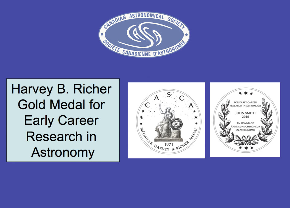 The Canadian Astronomical Society Announces Establishment of New Award for Early Career Research in Astronomy