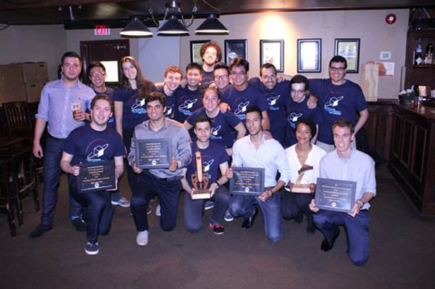 The winning CSDC teams with their trophies and plaques.