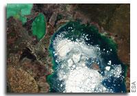 Earth from Space: Alakol Lake, Kazakhstan