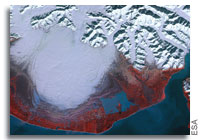 Earth from space: Malaspina Glacier, Alaska