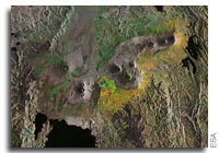 Earth from Space: Virunga Mountains, Central Africa