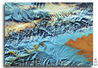 Earth from Space: China's Tian Shan Mountains
