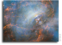 Hubble Captures the Beating Heart of the Crab Nebula