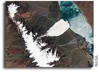 Massive and Mysterious Ice Fall in Tibet Viewed From Space