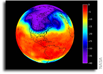 NASA Infrared Imagery Of U.S. Cold Snap