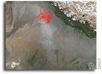 Orbital View Of Agricultural Fires in India