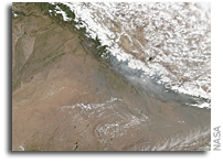 Fires and Smoke in Nepal Seen From Orbit