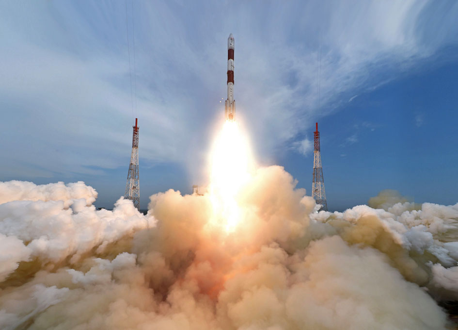 India's PSLV-C35 Launches SCATSAT-1 and Seven Small Satellites