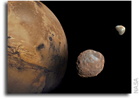 Did A Giant Mars Impact Create Phobos, Deimos - and Another Moon?