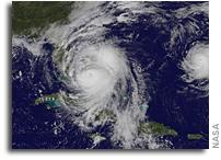 Satellite View As Hurricane Matthew Regains Category 4 Status