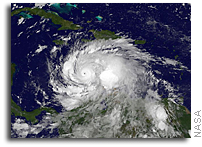 Close Up View of Hurricane Matthew in Central Caribbean