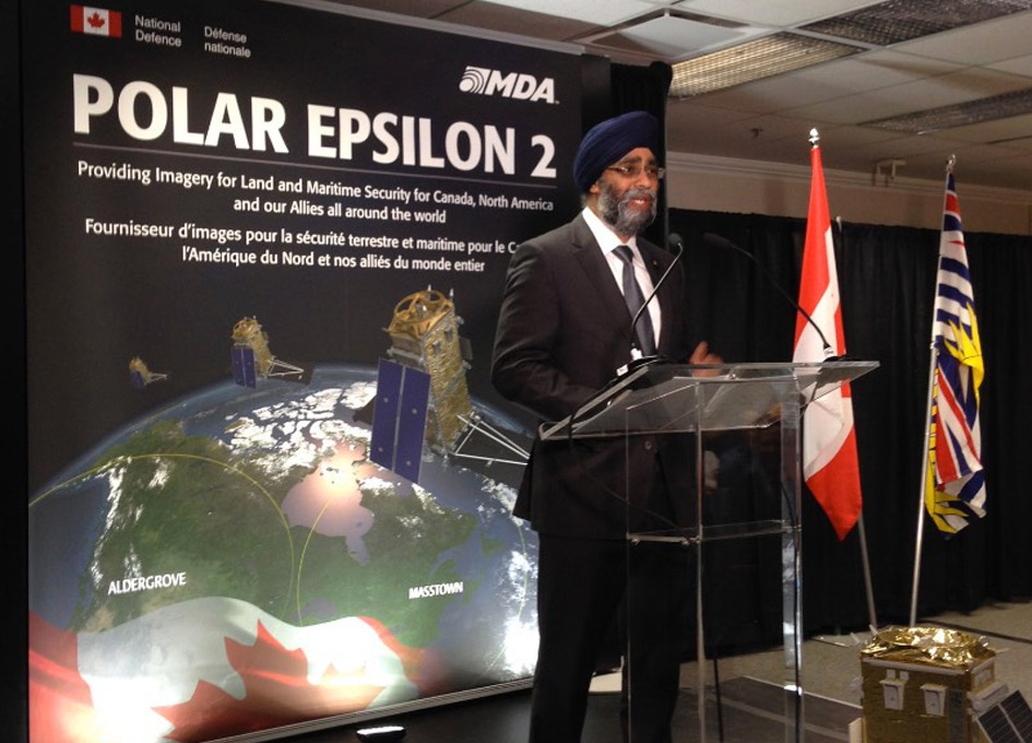 National Defence Awards MDA Polar Epsilon 2 Contract