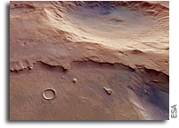 An Interesting Unnamed Large Crater On Mars