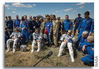 Expedition 47 Commander Tim Kopra and Crewmates Land Safely in Kazakhstan